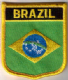 Brazil Embroidered Flag Patch, style 07.